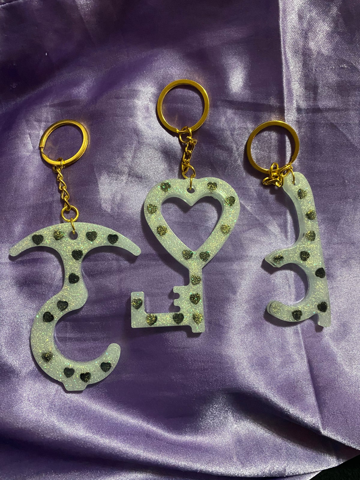 Image of Queen of Black Hearts Keychain