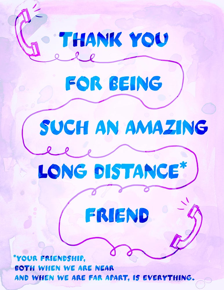 Image of Friendship Card - Long Distance