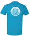 Image of Men's Tee - Sky Blue and Navy Blue