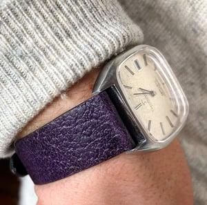 Image of Extra-Thin Purple Pigskin watch strap