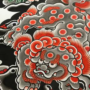 Image of Karajishi botan original painting 2