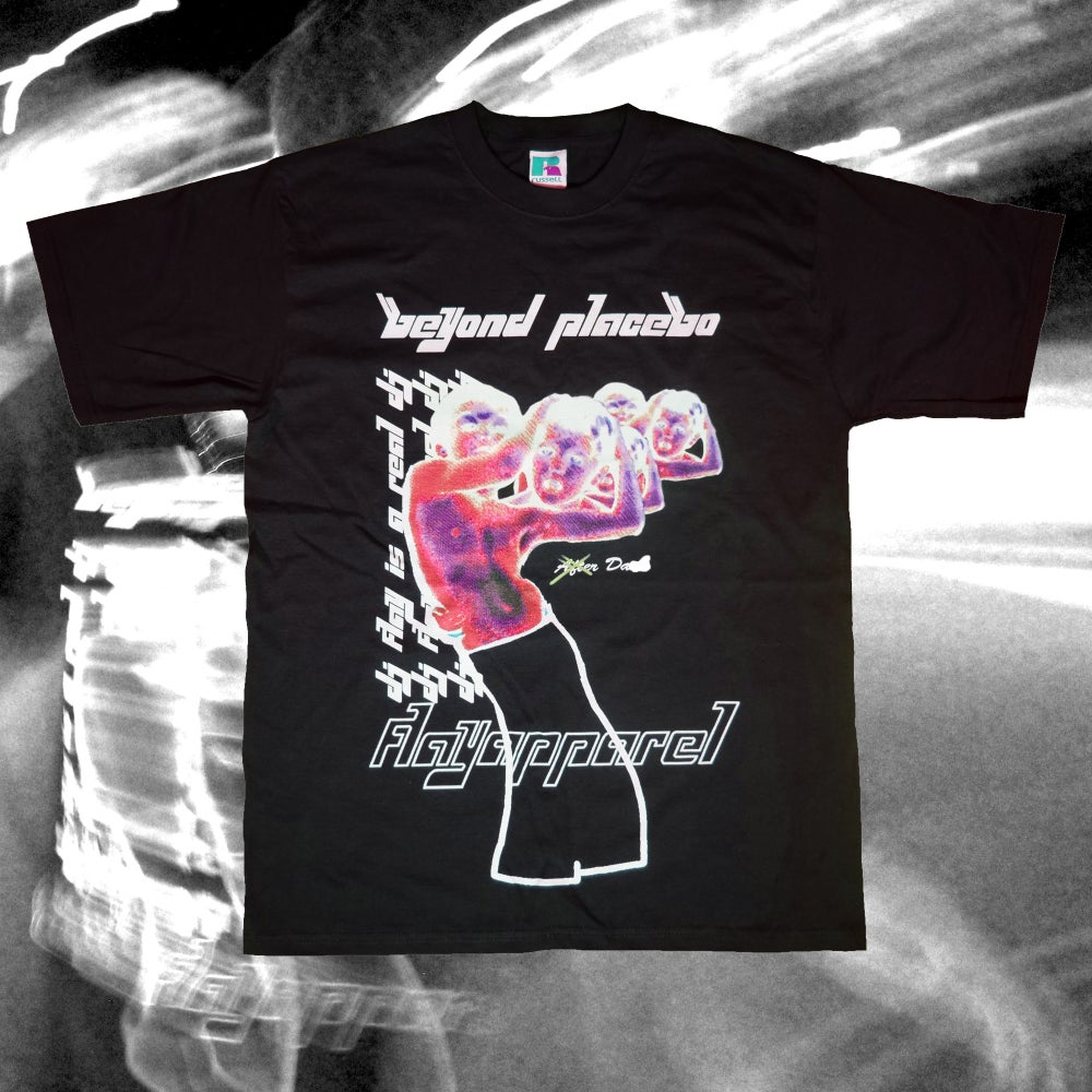 Image of 'Beyond Placebo' Official FLAY Album Tee Black #2