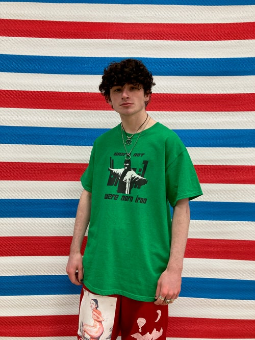 Image of 'were not brazil were norn iron' Green Tee