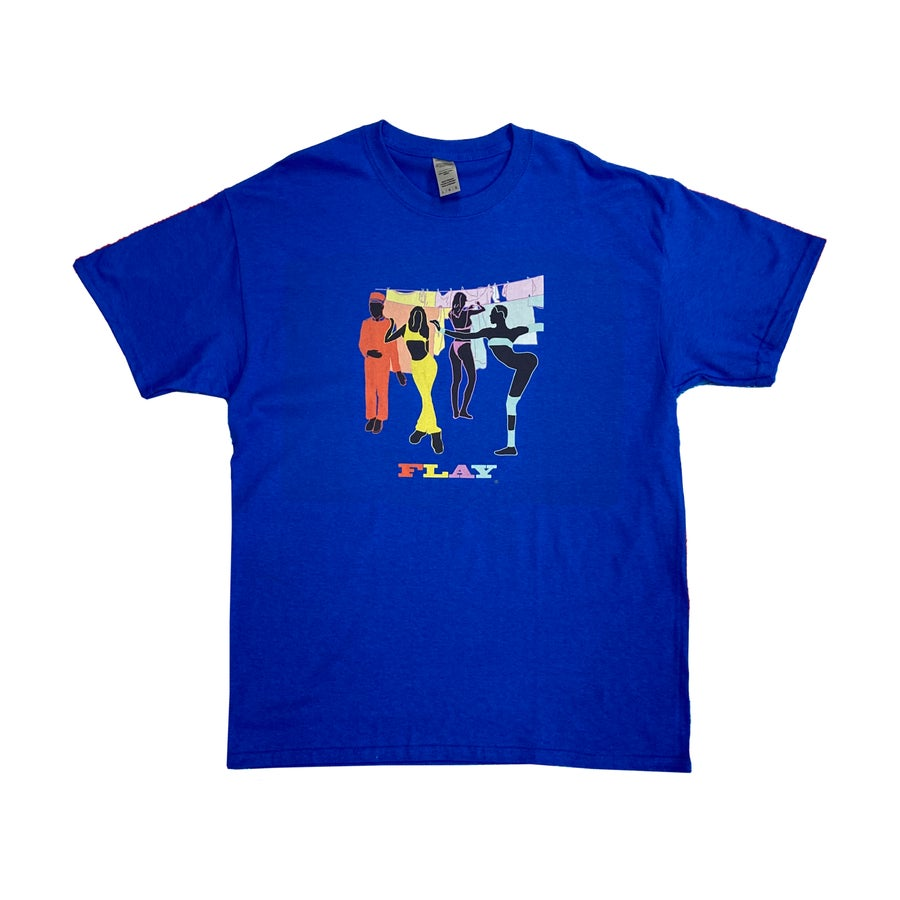 Image of FLAY Bright Blue Casual Tee