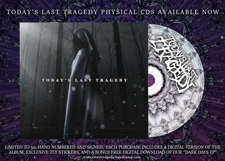 Image of TODAY'S LAST TRAGEDY SELF TITLED ALBUM PHYSICAL CD