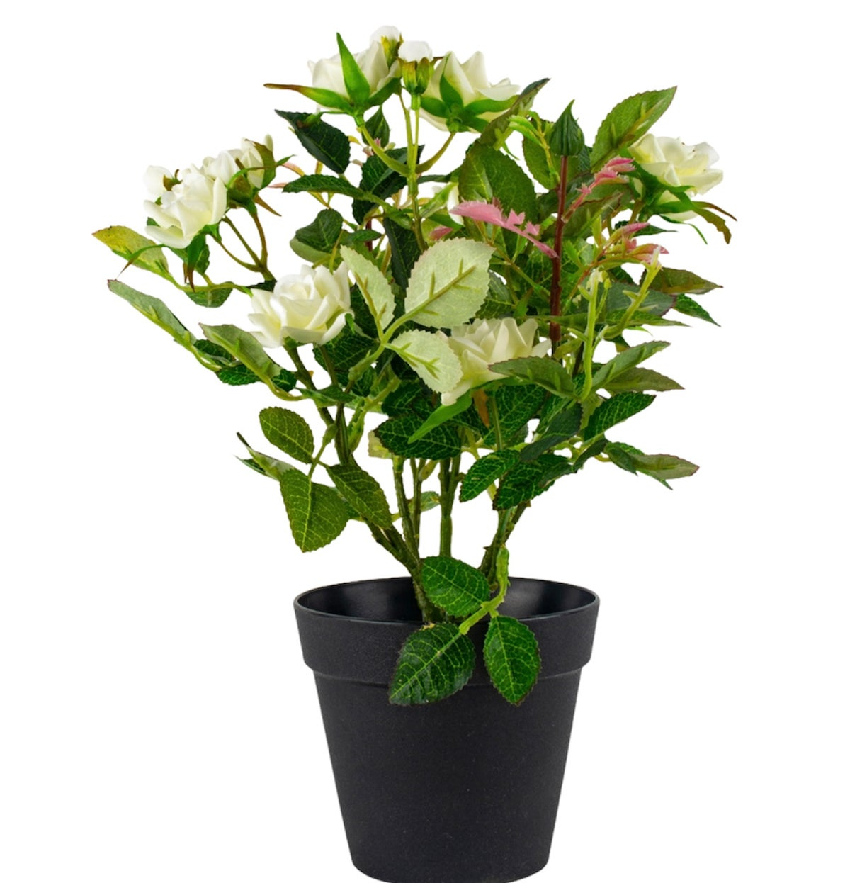 Image of Faux Potted White Rose