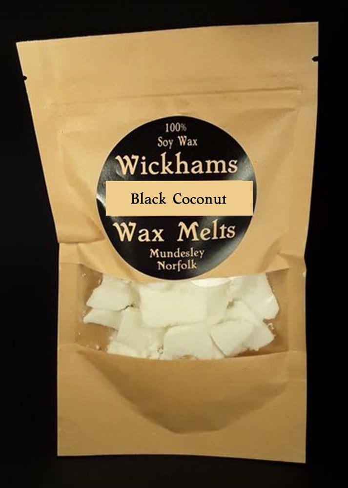 Image of Black Coconut wax melt bag