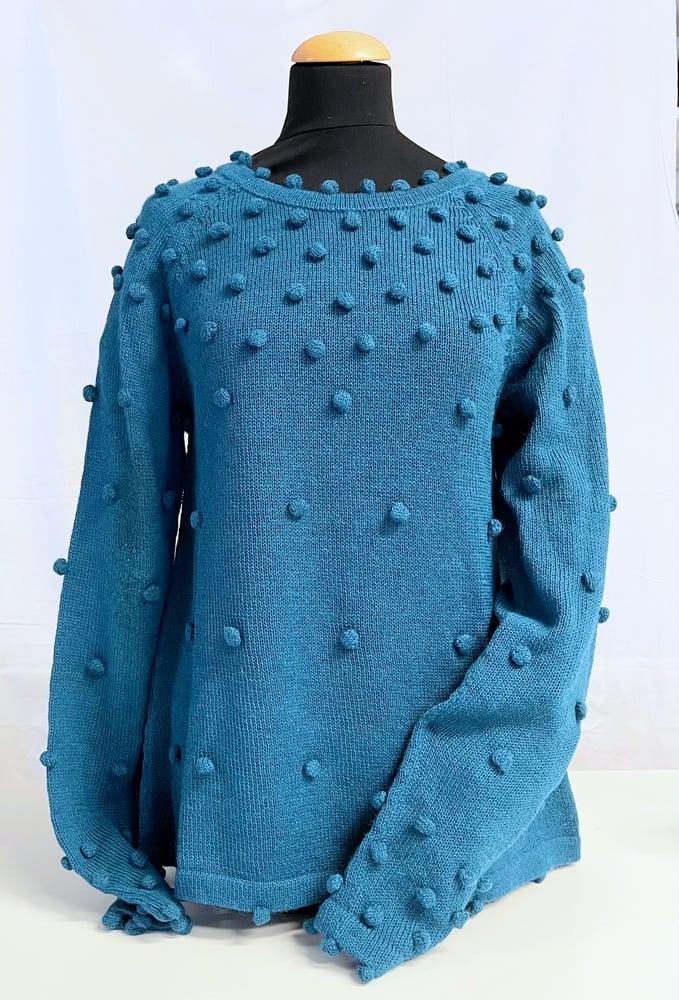Image of Sweater Dots Paris Blue