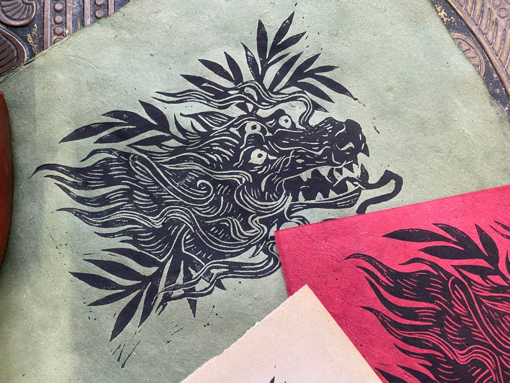Image of BLACK SHUCK relief print