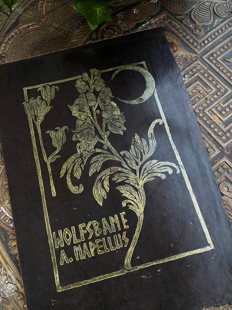 Image of WOLFSBANE relief print
