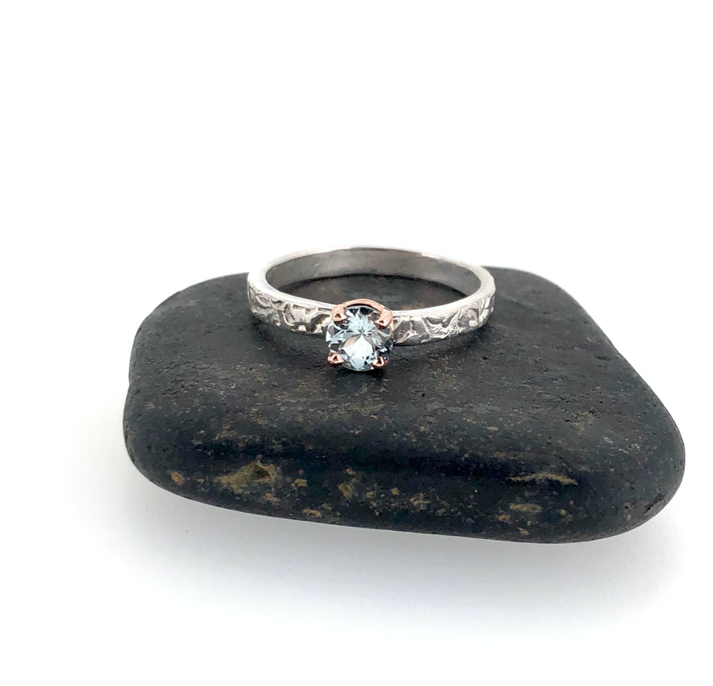 Image of reserved for the fabulous T . aquamarine engagement ring