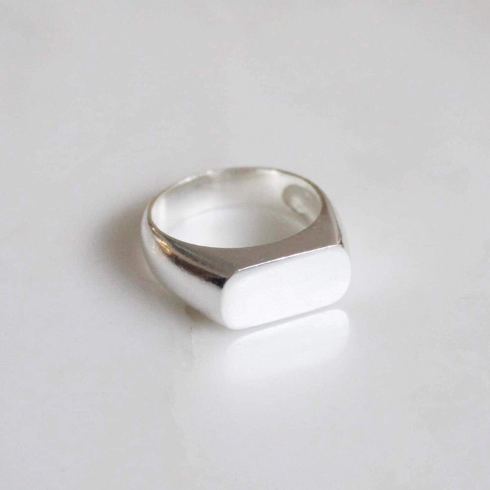 Image of Rectangle signet silver ring