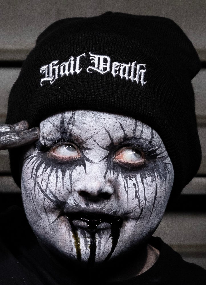 Image of HAIL DEATH! - embroidered beanie