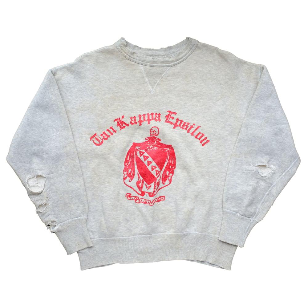 Image of Vintage 50s/60s Russell Frat Skull Print Sweatshirt