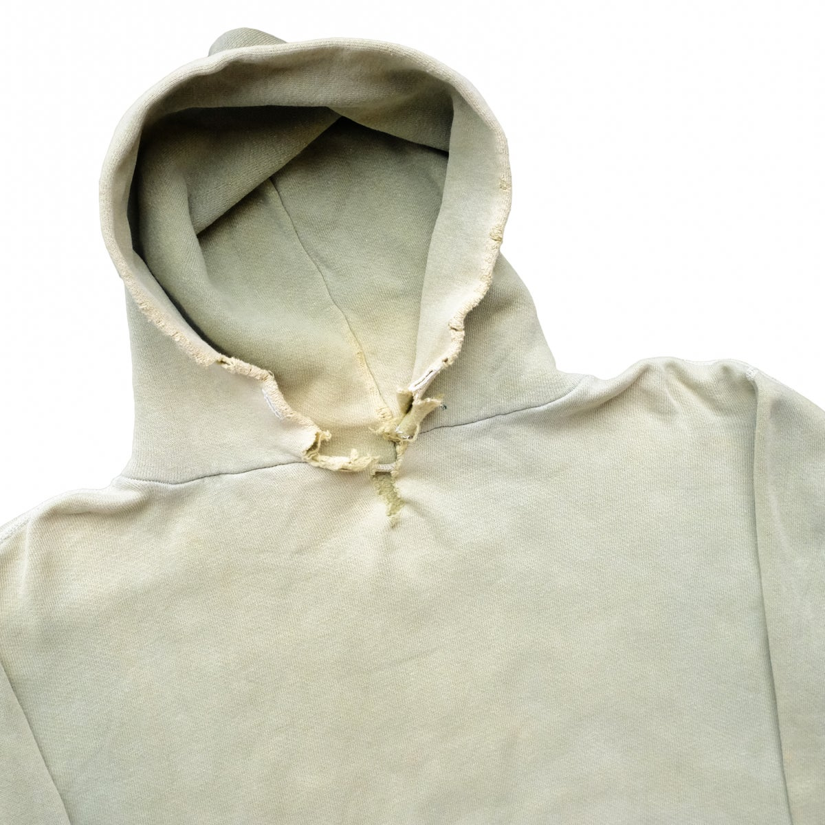 Image of 50s/60s Vintage Sunfaded Green Hoodie