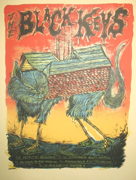 The Black Keys 2009 Tour Poster