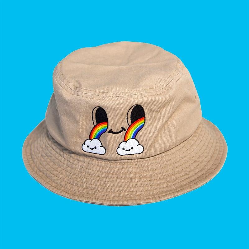 Image of Holey Rainbow Bucket Hat