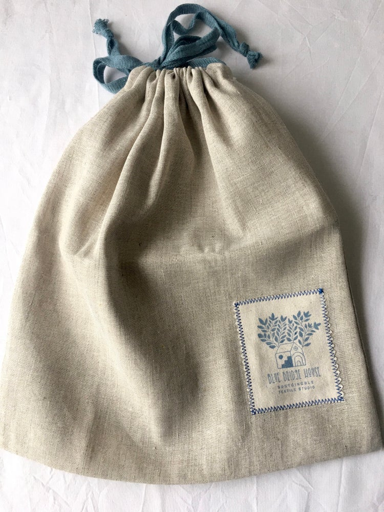 Image of Linen Cotton Bulk Refill Produce Drawstring Bag - Packaging Free Shopping