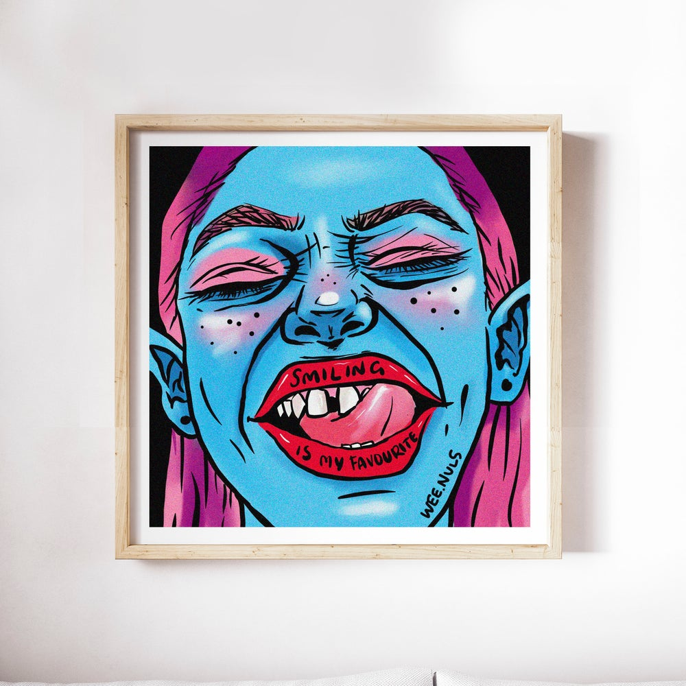 SALE | LIMITED EDITION | 30x30cm PRINT | 'SMILING IS MY FAVOURITE'