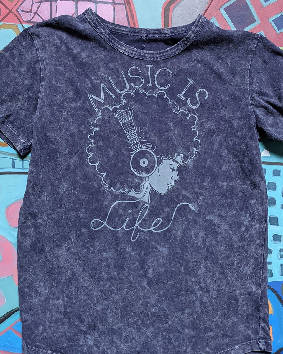 Image of Music is Life Youth and Adult T-Shirt