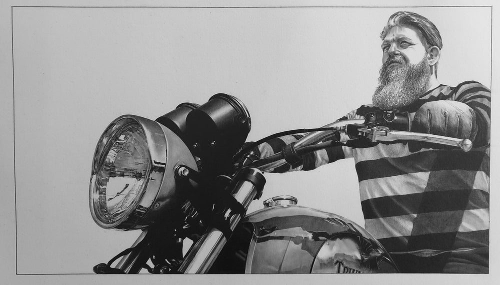 Image of 'Dan' - Motorcycle Portrait