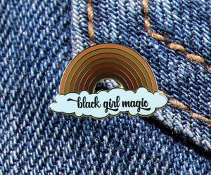 Image of Black Girl Magic Melanin Rainbow Enamel Pin