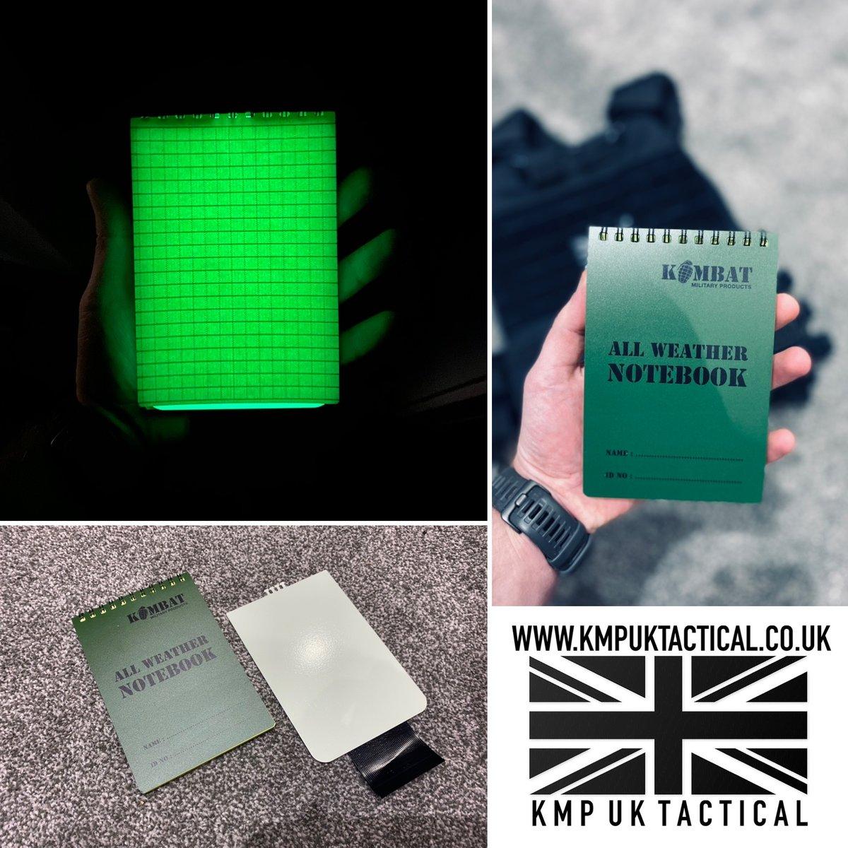 "Image of KMP UK TACTICAL ""BLACKOUT"" All-Weather Pocket Book"