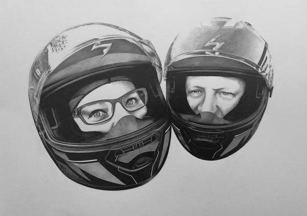 Image of 'Kris and Chris' - Motorcycle Portrait