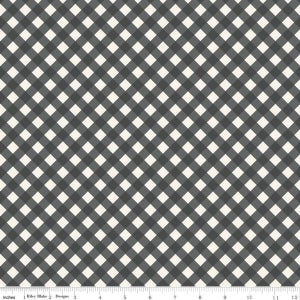 Image of Gingham Gardens Check in charcoal