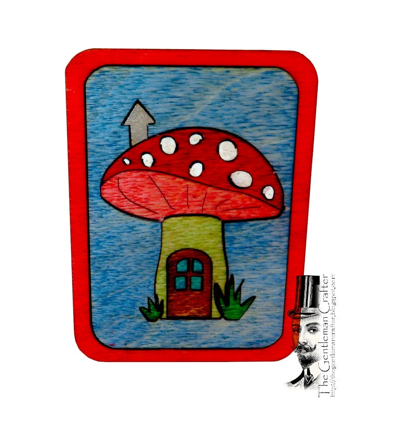 Image of Mini Marquetry Trinket Box Kit- Mushroom House