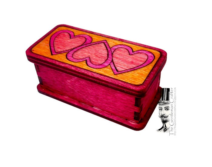 Image of Mini Marquetry Trinket Box Kit- Linked Hearts