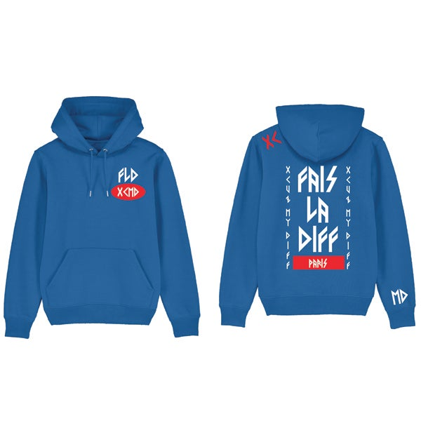 Image of SWEAT CAPUCHE BLEU - XCMD