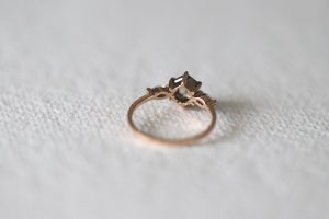 Image of 18ct rose gold 'salt and pepper' diamond ring (IOW164)