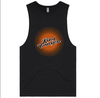 Mens Singlet - Raw Edge - Black