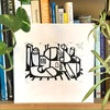 'The Dock' Lino Print
