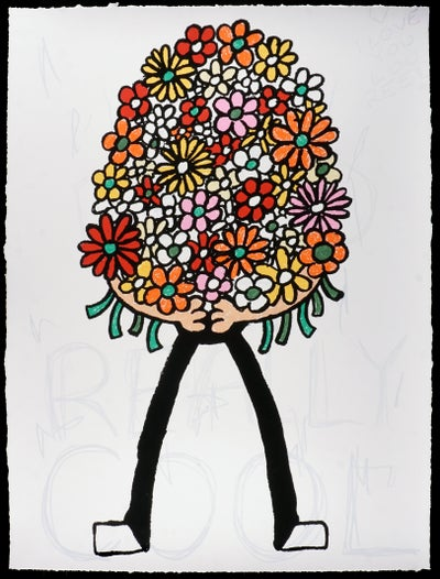"""Jay Stuckey  - """"Bouquet, 2019"""" -  9-Color Screenprint - Edition of 30 - Misc. Press"""