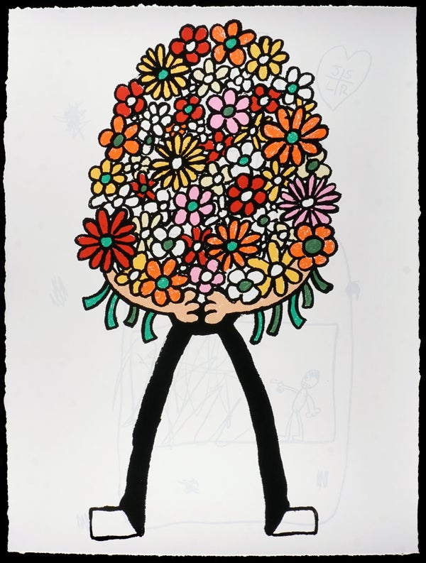 "Jay Stuckey  - ""Bouquet, 2019"" -  9-Color Screenprint - Edition of 30 - Misc. Press"