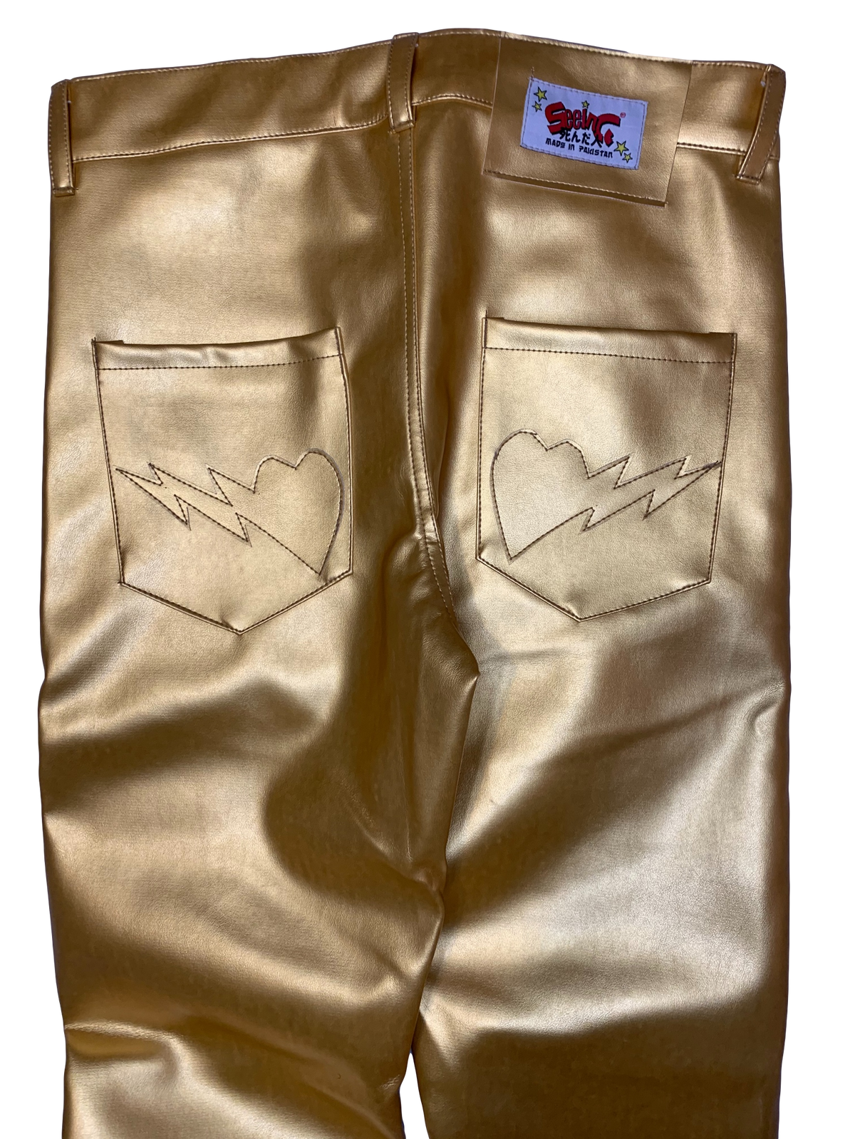 Image of LIQUID GOLD BONES PANTS