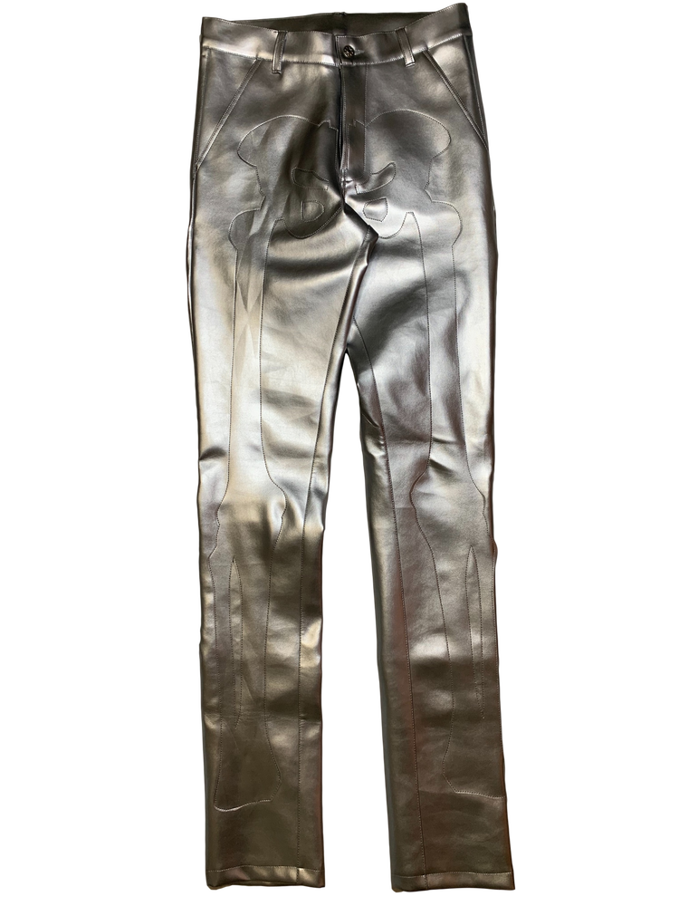 Image of LIQUID SILVER BONES PANTS