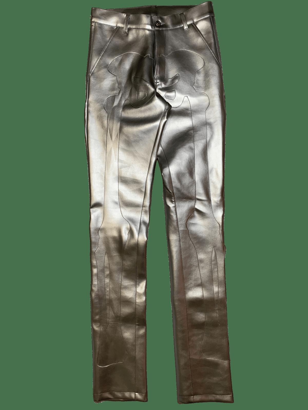 Image of LIQUID SILVER BONES PANTS