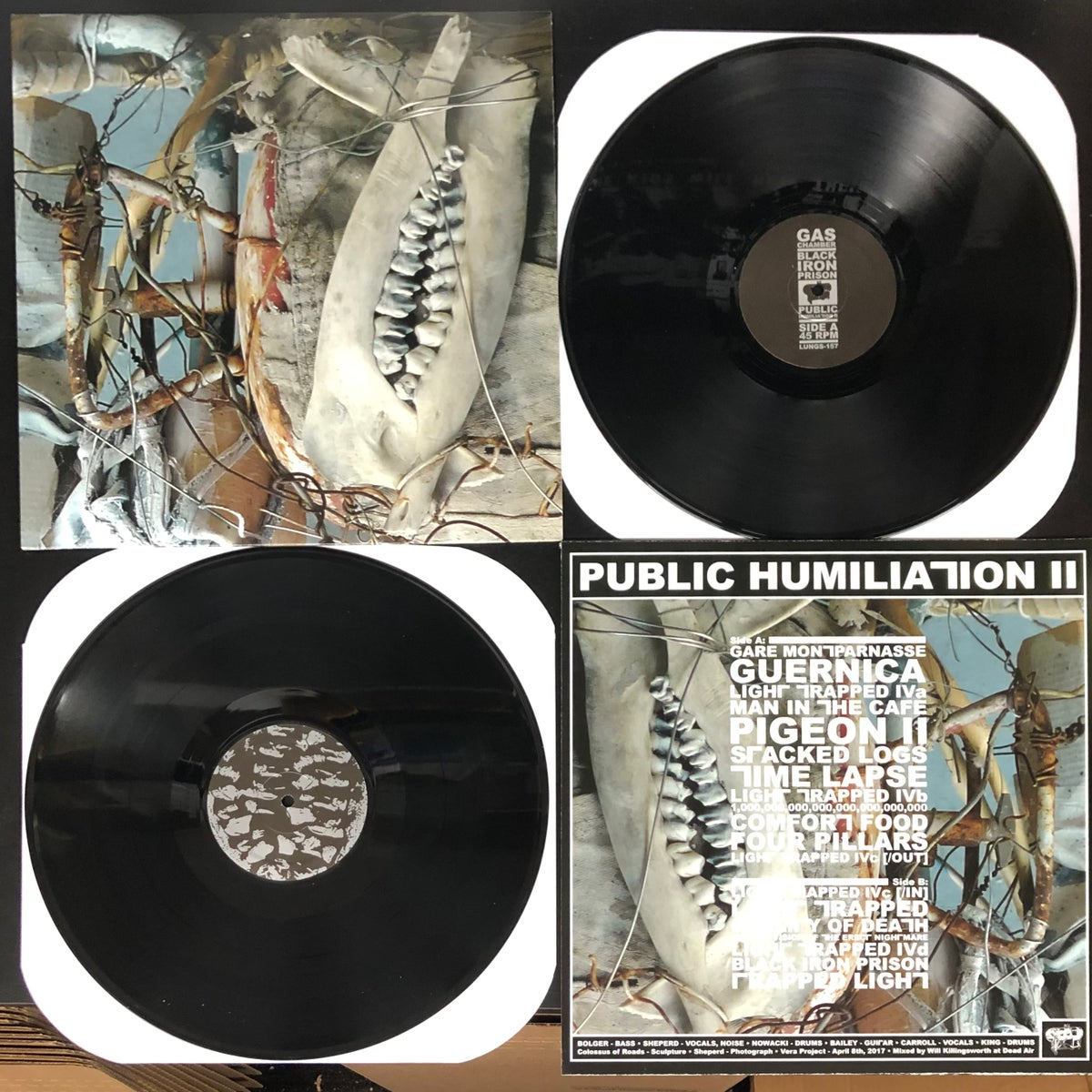 Image of GAS CHAMBER / BLACK IRON PRISON - Public Humiliation II LP [Pre-Order. Out 2.26.21]