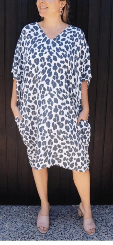 Image of Yamba dress leopard