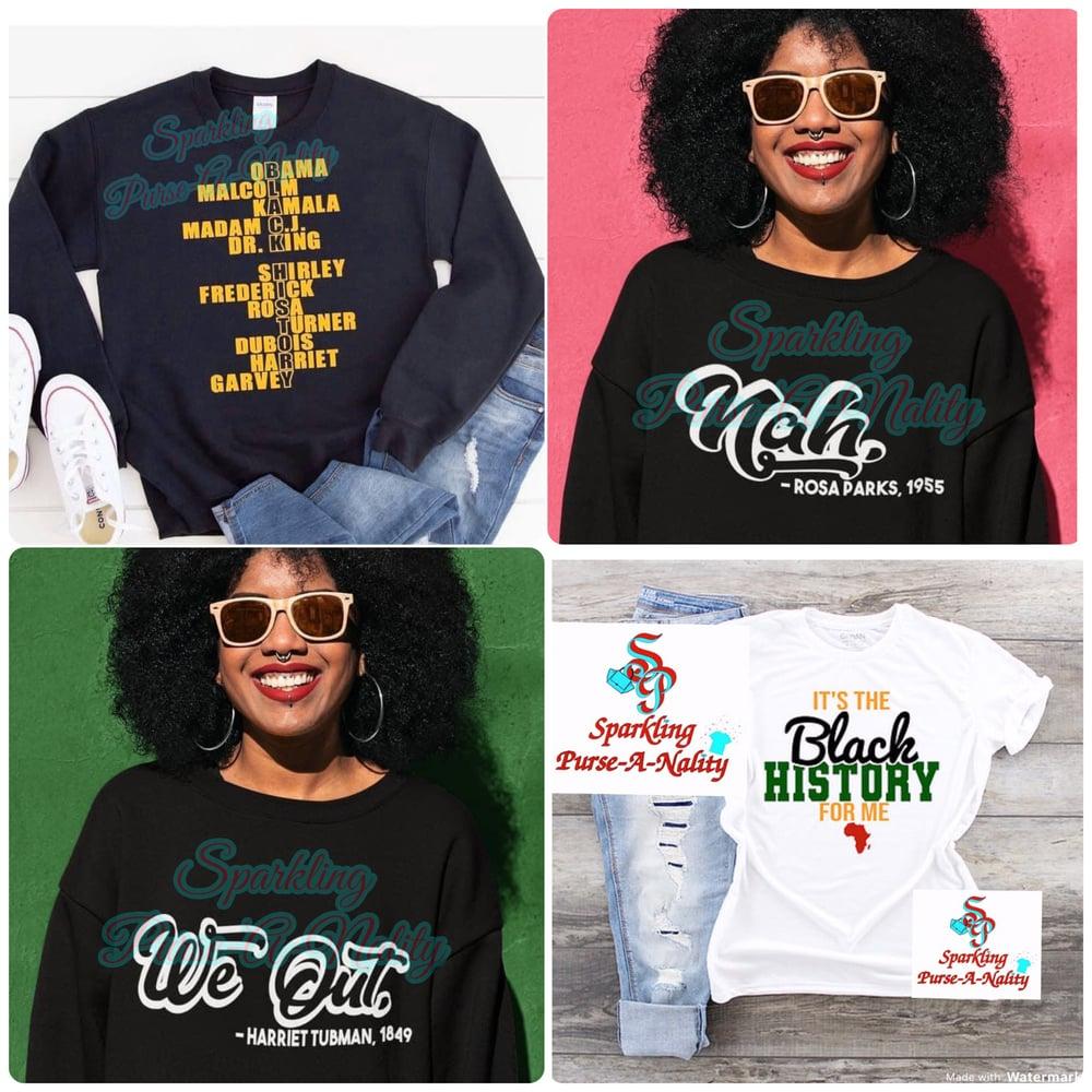 Image of Black History Shirts