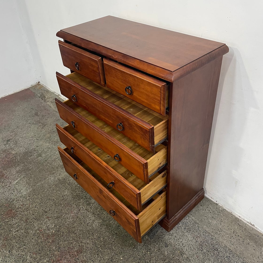 Image of PINE CHEST OF DRAWERS