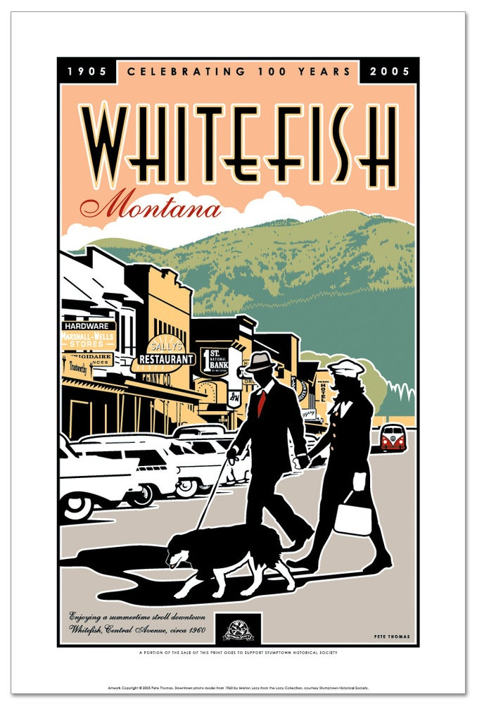 Image of Whitefish Centennial - Downtown Poster