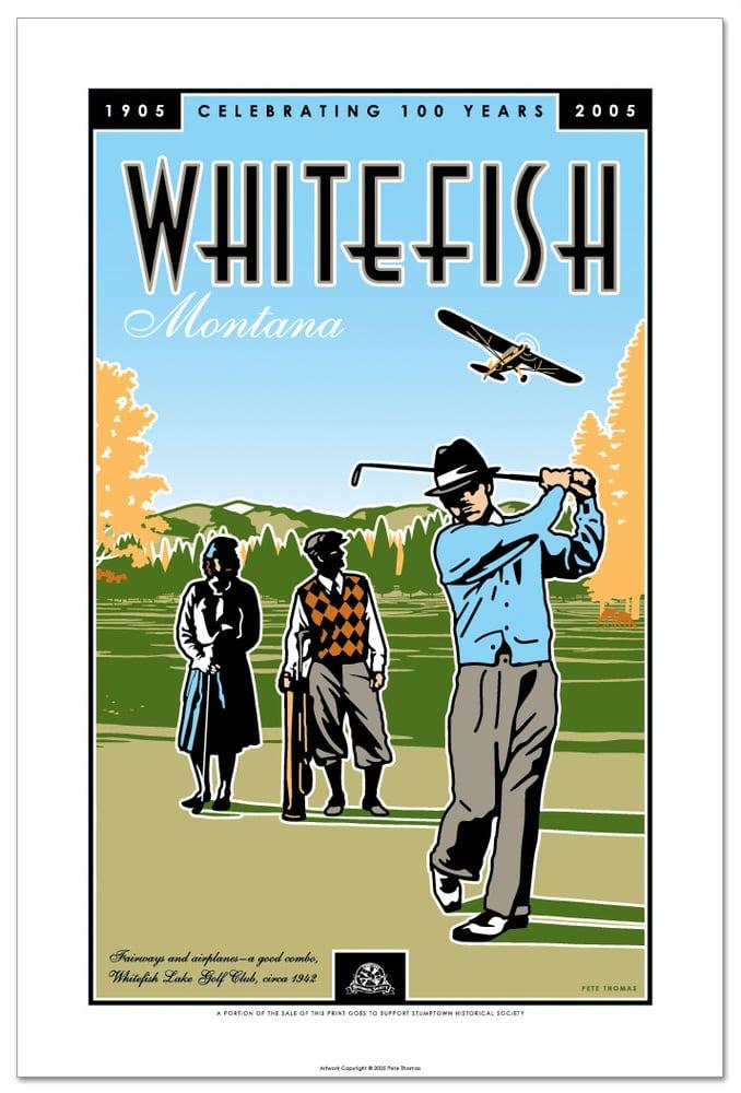 Image of Whitefish Centennial - Golf Poster