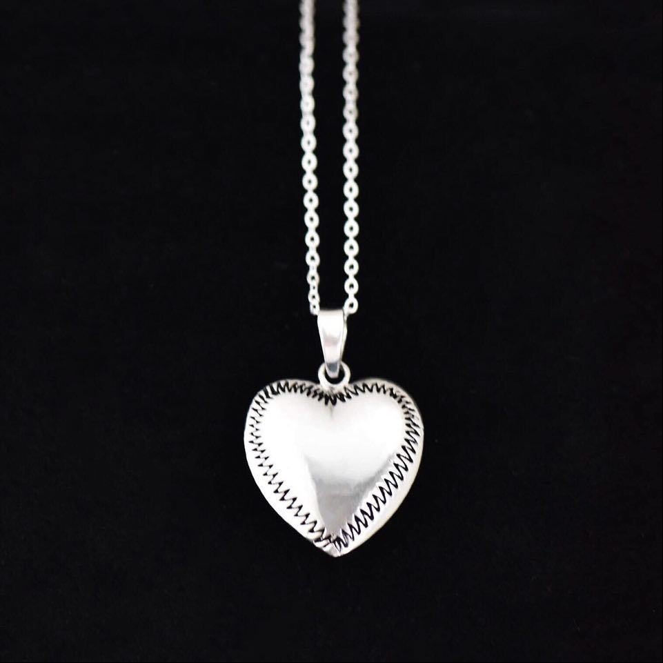 Image of Big Silver Heart necklace