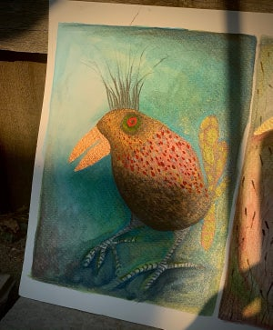 Image of Watercolour Bird painting 1