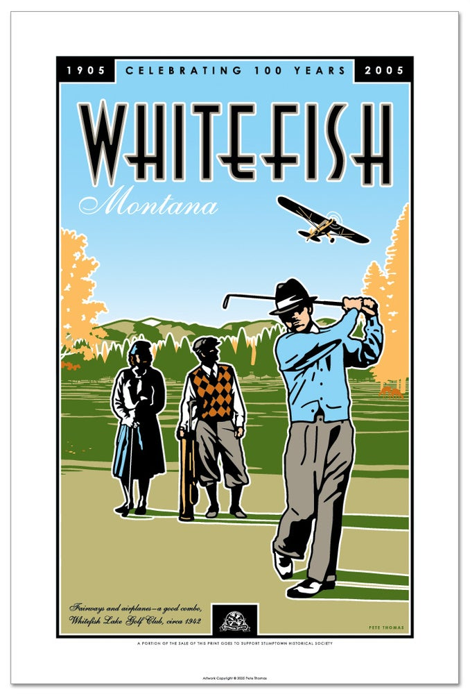 Image of Whitefish Centennial - Limited Edition Golf Art Print