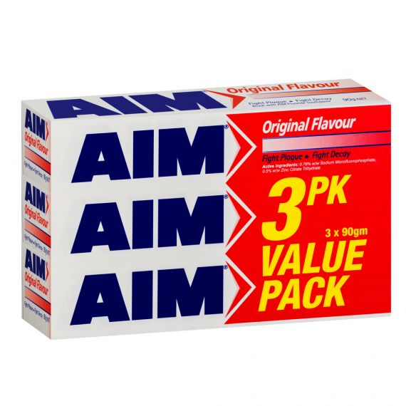 Image of Aim Toothpaste Value 3x90g